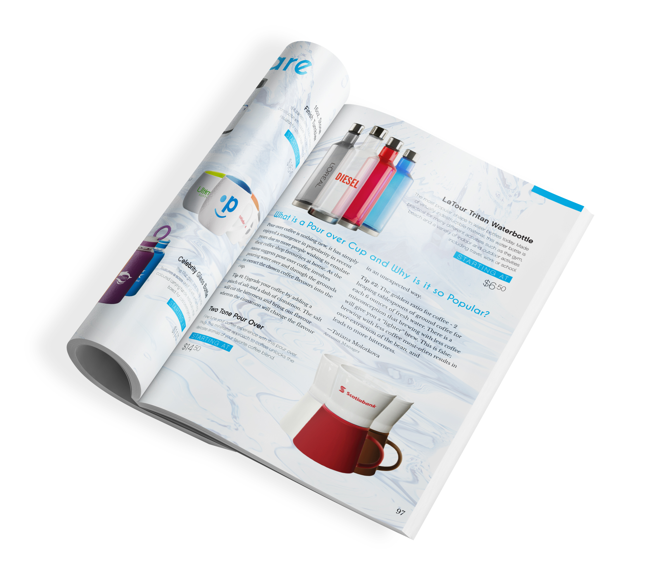 Drinkware Spread in Score's Catalogue