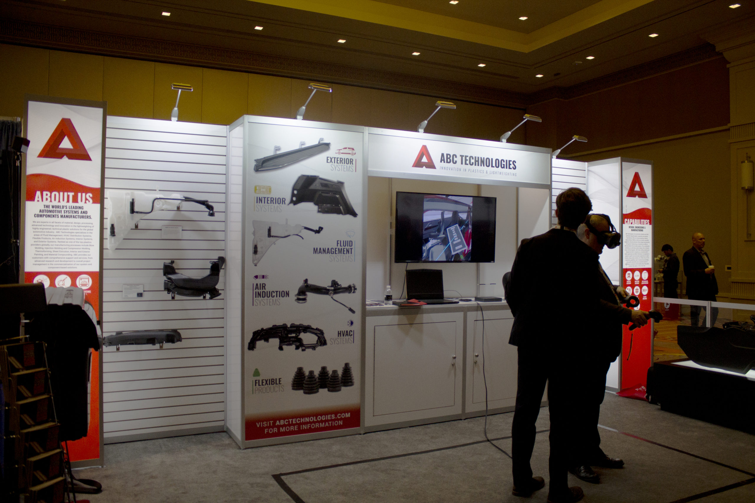 ABC Technologies' Trade Show booth at APMA