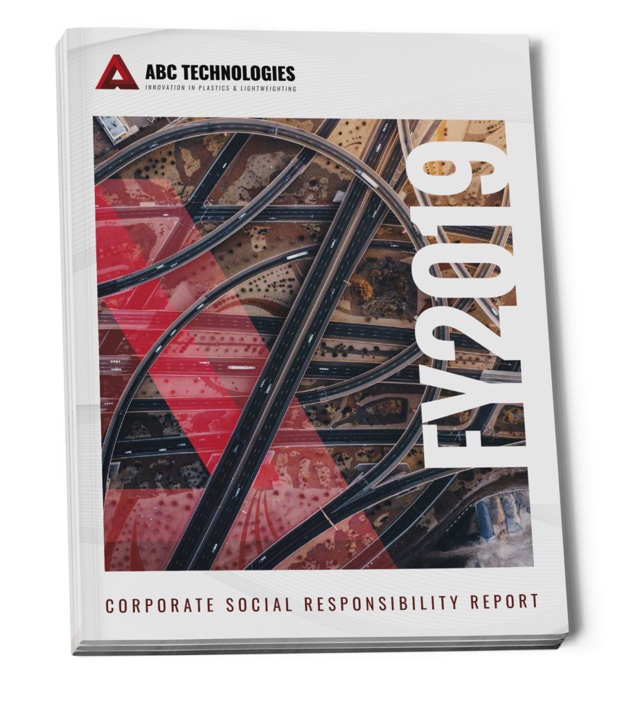 Cover of ABC Technologies' CSR Report